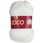 Пряжа Коко Вита (Coco Vita Cotton), 50 г / 240 м, 3851 белый