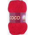 Пряжа Коко Вита (Coco Vita Cotton), 50 г / 240 м, 3856 красный