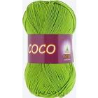 Пряжа Коко Вита (Coco Vita Cotton), 50 г / 240 м, 3861 салатовый