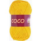 Пряжа Коко Вита (Coco Vita Cotton), 50 г / 240 м, 3863 желтый