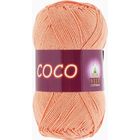 Пряжа Коко Вита (Coco Vita Cotton), 50 г / 240 м, 3883 персиковый