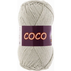 Пряжа Коко Вита (Coco Vita Cotton), 50 г / 240 м, 3887 св. сер.-беж.