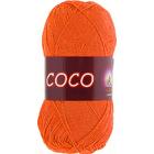 Пряжа Коко Вита (Coco Vita Cotton), 50 г / 240 м, 4305 оранжевый
