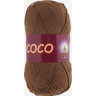 Пряжа Коко Вита (Coco Vita Cotton), 50 г / 240 м, 4306 коричн.
