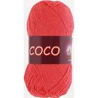 Пряжа Коко Вита (Coco Vita Cotton), 50 г / 240 м, 4308 коралловый