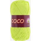 Пряжа Коко Вита (Coco Vita Cotton), 50 г / 240 м, 4309 св.-салатовый