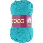 Пряжа Коко Вита (Coco Vita Cotton), 50 г / 240 м, 4315 голубая бирюза