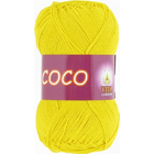 Пряжа Коко Вита (Coco Vita Cotton), 50 г / 240 м, 4320 ярко-желтый