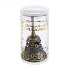 Колокольчик-талисман 1125286 с камнем «Для карьерного роста (соколиный глаз») в интернет-магазине Швейпрофи.рф