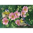 Алмазная мозаика DIY F-273  «Цветы шиповника»