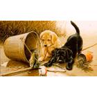 Алмазная мозаика DIY F-281 «Любопытные щенки»