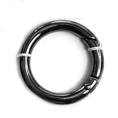 Кольцо разъёмное MB-114 шир. 25 мм т.никель в интернет-магазине Швейпрофи.рф