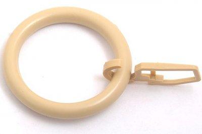 Кольцо шторн. пластм. с крюч. d=50 мм