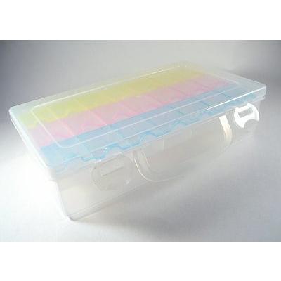 Контейнер HP 930505 для мелочей пластм. 3 секц. по 7 мал. отдел. двойная 22,4*12,8*5,5 см в интернет-магазине Швейпрофи.рф