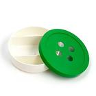 Коробка 1603 «Пуговка» для мелочей 3 ячейки d = 15,5 см