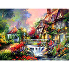 Алмазная мозаика DIY O-595 «Дом у водопада»
