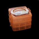 Коробка R677 для мелочей 3 отдела 15,5*16*13 см