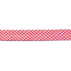 Косая бейка 15 мм Blitz шотландка п/э (уп. 65,8 м) SB16 красный/белый