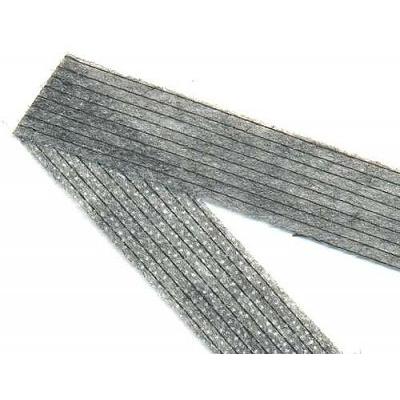 Кромка нитепрошивная 20 мм (рул. 50 м) черн. в интернет-магазине Швейпрофи.рф