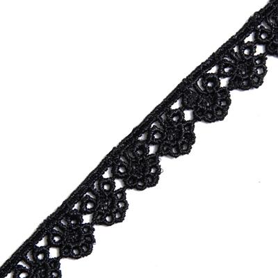 Кружево гипюр  15 мм 03# (уп. 13,5 м) чёрный в интернет-магазине Швейпрофи.рф
