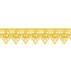 Кружево гипюр  20 мм 1059 (уп. 13,71 м) №518 желт.