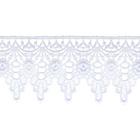 Кружево гипюр  63 мм 0575-3007 (уп. 13,71 м) бел.