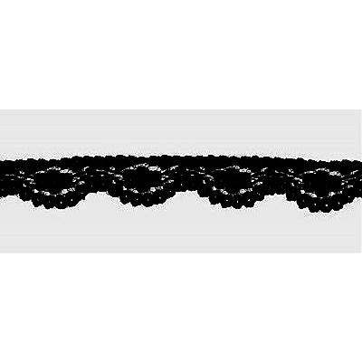 Кружево капрон  10 мм №197 (уп. 27,4 м) черн. в интернет-магазине Швейпрофи.рф