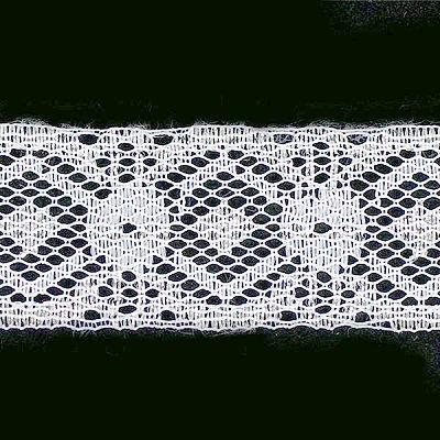 Кружево капрон  30 мм арт.7с1 (уп. 50 м) бел. в интернет-магазине Швейпрофи.рф
