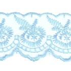 Кружево капрон  40 мм 0574-2020 (уп. 9,14 м) 267 голубой
