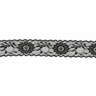 Кружево капрон  40 мм №928 (уп. 27,4 м) черн.