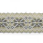 Кружево капрон  50 мм арт.7с1 (уп. 50 м)  черный с золотом