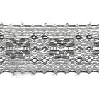 Кружево капрон  50 мм арт.7с1 (уп. 50 м)  черный с серебром