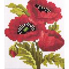 Алмазная мозаика H 0100 «Красные маки»