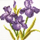 Алмазная мозаика H 0420 «Три ириса»
