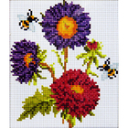Алмазная мозаика H 1014 «Пчелы на астрах»