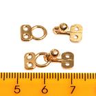 Крючок-петля 33874 метал. декоратив. (уп. 10 шт.) золото