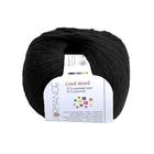 пряжа Кул вул (Performance Cool Wool)  50гр-200м  001 чёрный