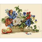 Алмазная мозаика H 2327 «Цветочная корзина с персиком»