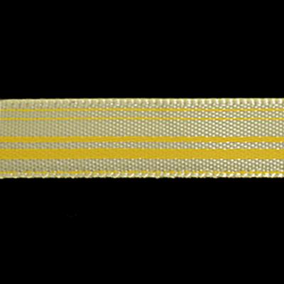 Лента атласная 10 мм ALP-101 (рул. 22,8 м) с рис. L8/009 линия/св.-желтый в интернет-магазине Швейпрофи.рф
