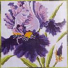 Алмазная мозаика H 3417 «Сиреневый ирис»