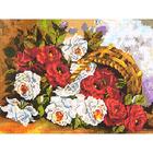 Алмазная мозаика H 4409 «Красные и белые розы»