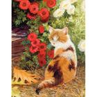 Алмазная мозаика Milato № 168 «Кошечка в цветах»