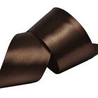 Лента атласная 50 мм (рул. 32,9 м) №8135 т.коричневый