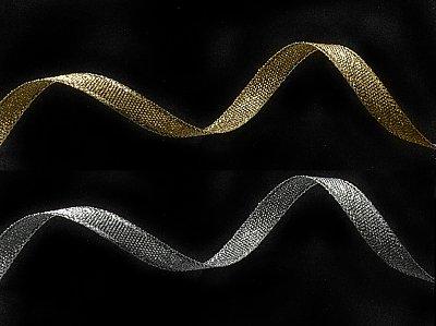 Тесьма металл. 06 мм 0080-0600 (уп. 32,9 м) 411453 серебро, золото