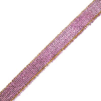 Тесьма металл. 12 мм (уп. 27 м) 19 розово-сиреневый в интернет-магазине Швейпрофи.рф