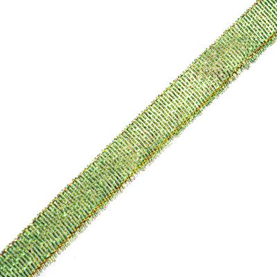 Тесьма металл. 12 мм (уп. 27 м) 23 св. зелёный в интернет-магазине Швейпрофи.рф
