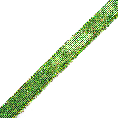 Тесьма металл. 12 мм (уп. 27 м) 26  зелёный в интернет-магазине Швейпрофи.рф