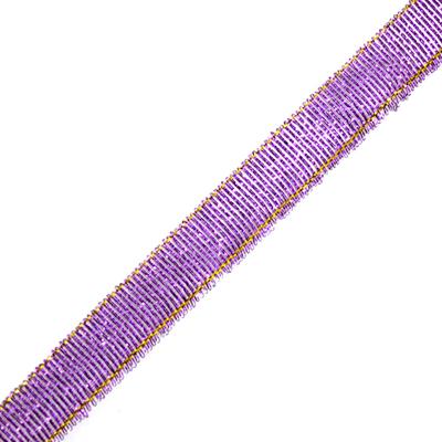 Тесьма металл. 12 мм (уп. 27 м) 30 фиолетовый в интернет-магазине Швейпрофи.рф