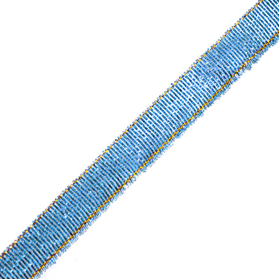 Тесьма металл. 12 мм (уп. 27 м) 36 синий в интернет-магазине Швейпрофи.рф