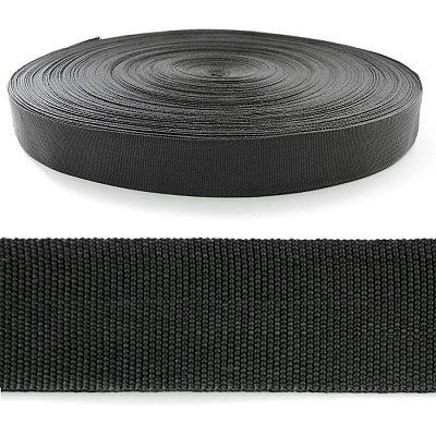 Лента тесьма 22 мм 450Д (рул. 100 м) черн. в интернет-магазине Швейпрофи.рф
